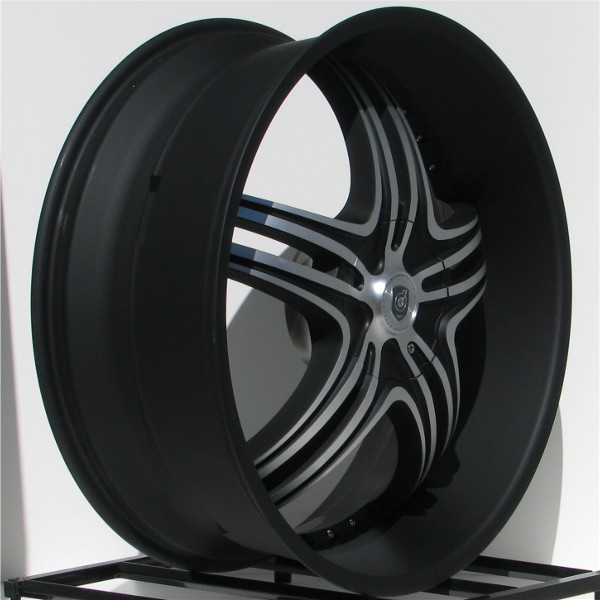 24 inch Black Rim Wheels Chevy Truck Silverado 1500 Tahoe GMC Sierra
