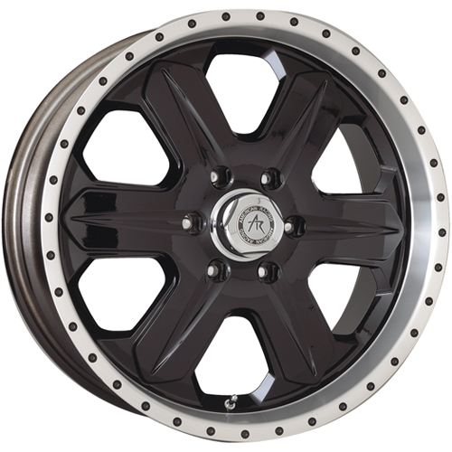 17 inch Black Wheels Rims Jeep CJ Dodge RAM 1500 Ford F150 Truck E150