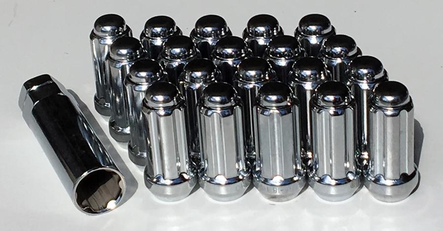 16 Chrome Wheels Rims Spline Lug Nuts Dodge RAM 1500 Truck 20 Lug