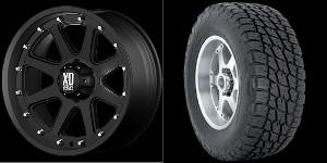 20 inch Wheels Rims Tires Black Chevy GMC Tahoe Yukon Suburban